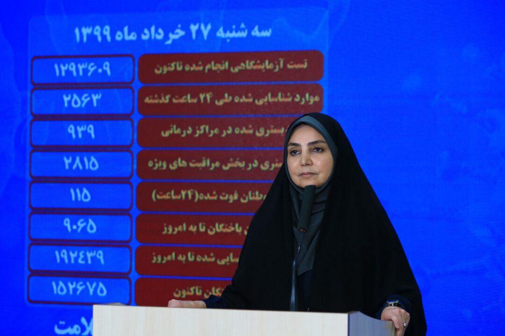 کرونا جان ۱۱۵ نفر دیگر را در ایران گرفت